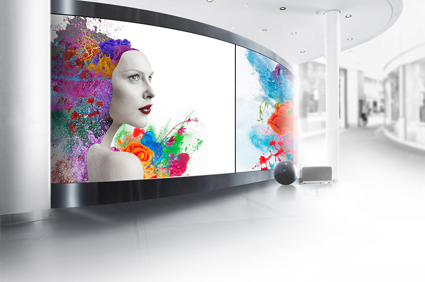 Curved LED screens