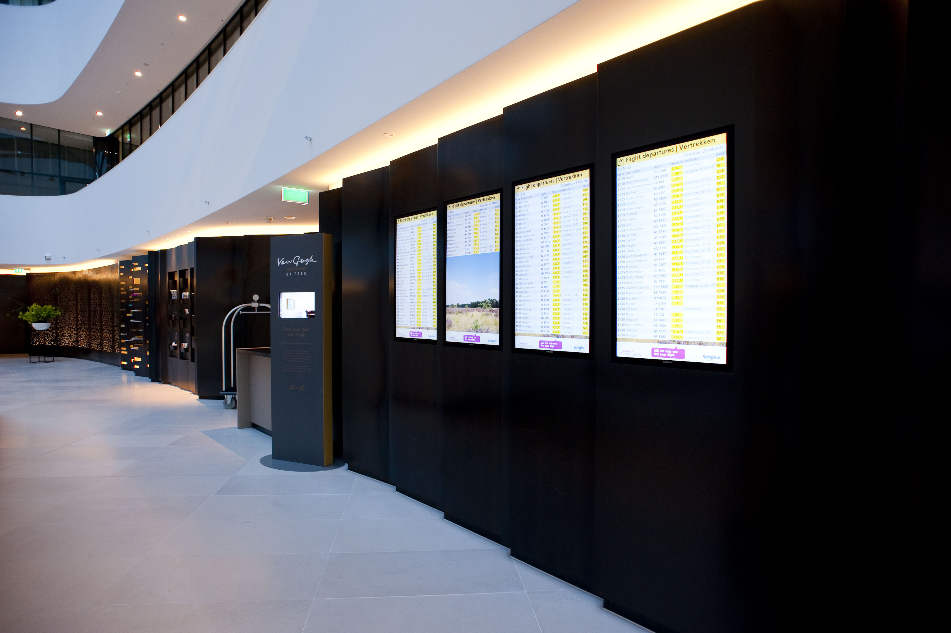 Hilton Airport Schiphol Narrowcasting