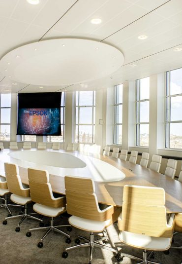 A boardroom with a view
