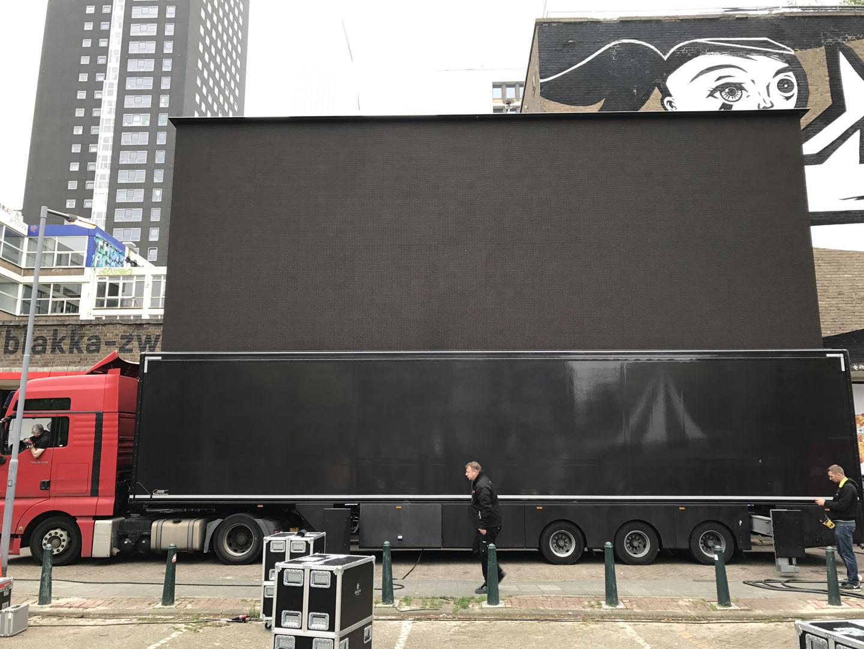 LED scherm kampioenswedstrijd