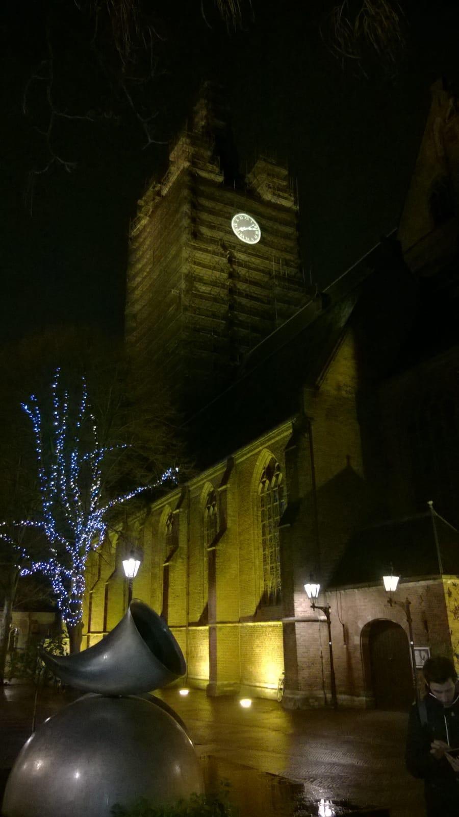 Projectie de Nieuwe Kerk Delft