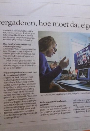 "In dagblad Trouw: ""De do's en don'ts van digitaal vergaderen"""