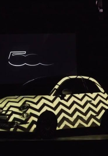 Video Mapping: Fiat 500 Reloaded