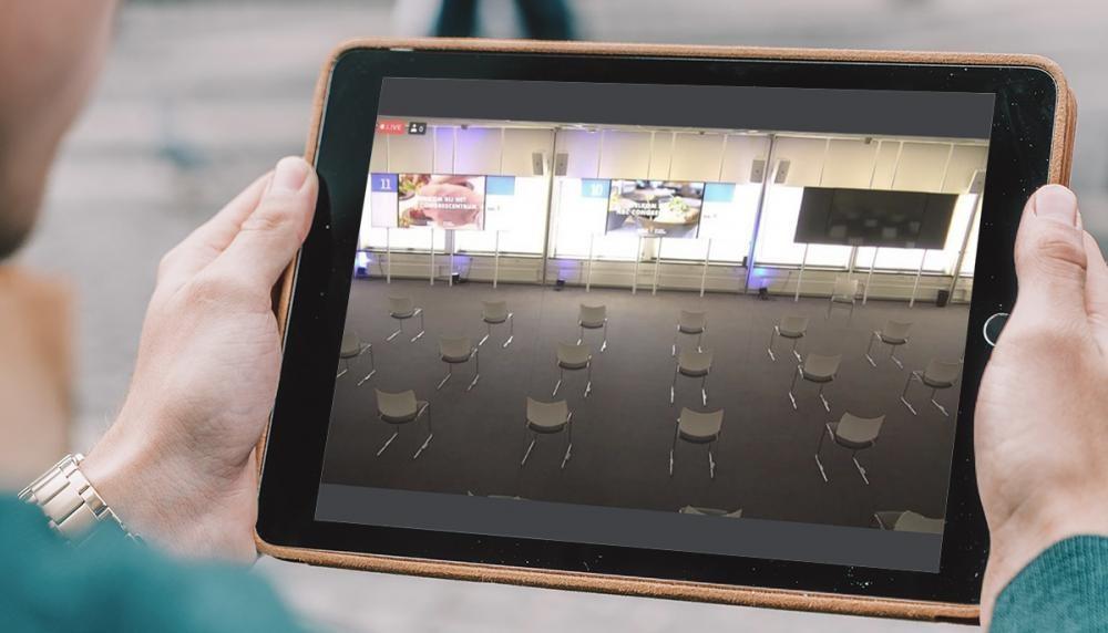 NBC tablet met zaal