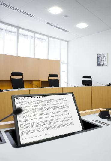 Extra capaciteit bij een openbare rechtszitting via live videoverbinding