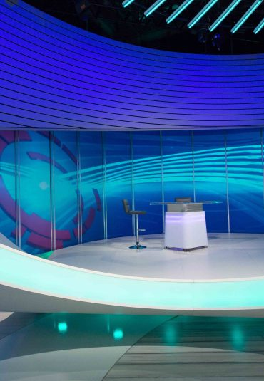 Futuristic set for NOS Sport